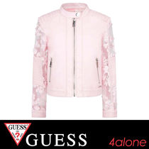 Guess(ゲス) キッズアウター Guess☆大人もOK☆MARCIANO刺繍スリーブジャケット12Y-16Y