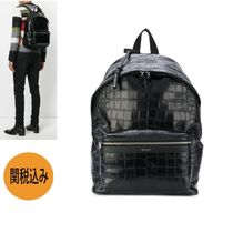 【関税込】SAINT LAURENT★CITY BACKPACK クロコ型 534967DZE2F1