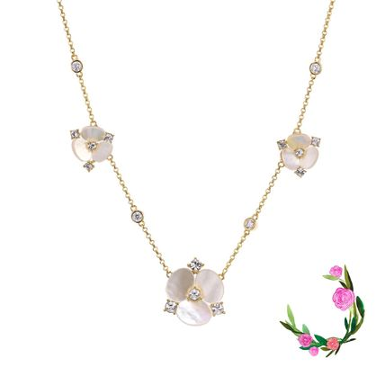 Kate Spade★DISCO PANSY SHORT SCATTER NECKLACE★セール