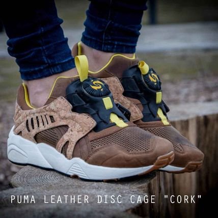 """PUMA LEATHER DISC CAGE """"CORK"""" コルク レア 特価"""