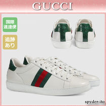 19SS★送料込【GUCCI】Ace リボン付き レースアップスニーカー