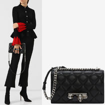 19SS AM444 JEWELED SATCHEL IN QUILTED LEATHER