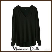 MassimoDutti♪T-SHIRT WITH CONTRASTING SHIMMER DETAIL