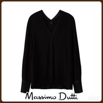 MassimoDutti♪COMBINED TOP WITH A FRONT PLEAT
