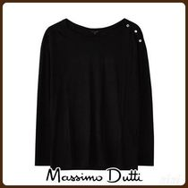 MassimoDutti♪COMBINED COTTON/LYOCELL T-SHIRT WITH BUTTONS