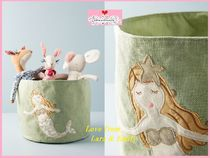 最安値保証*関送込【Anthro】Embroidered Mermaid Mini Toy Bin