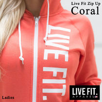 Live Fit(リブフィット) パーカー・フーディ ★関税込み★LIVE FIT★Live Fit Zip Up レディース Coral
