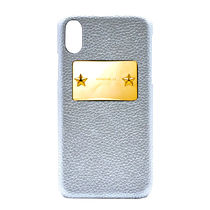 【enchanted.LA】STAR STUDDED MIRROR GOLD PLATE iPhone CASE