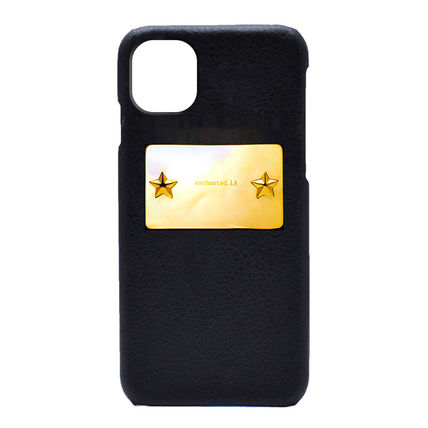 【enchanted.LA】STAR STUDDED MIRROR PLATE iPhone CASE GOLD