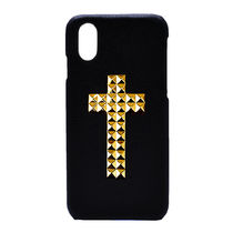 最新iPhone★enchanted.LA CROSS STUDDED COVER 十字架スタッズ
