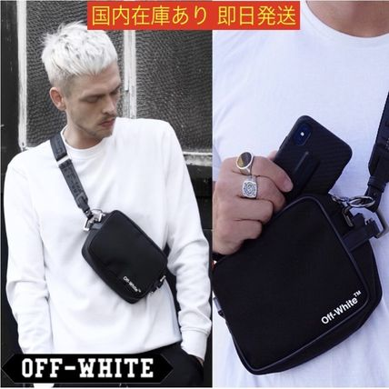 OFF-WHITE Leather-Trimmed Logo-Print Shell Camera Bag