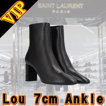 ◆◆VIP◆◆Saint Laurent Lou 7cm Lamb Skin アンクル ブーツ
