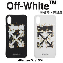 OFF-WHITE Black & White Cotton Flower iPhone X XS ケース