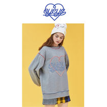 eyeye(アイアイ) ニット・セーター eyeye★HEART EMBROIDERY SWEATSHIRT_GREY