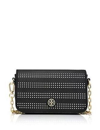 Tory Burch(トリーバーチ) Robinson Black Perforated Mini