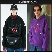 ANOTHERYOUTH(アナザーユース) パーカー・フーディ ☆ANOTHERYOUTH☆ zipper hoodie 2色 男女兼用