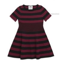 Milly(ミリー) キッズワンピース・オールインワン SALE!送料込【Milly Minis】Stripe Textured Fit-&-Flare Dress