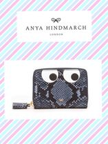 ANYA HINDMARCH/Eyes python-effect leather wallet