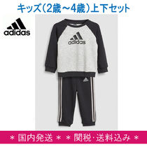 adidas★2歳〜4歳児キッズ:クルーネックトップス&ボトムセット