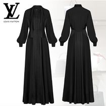 【Louis Vuitton】LONG SLEEVE DRESS WITH TIE ロングドレス