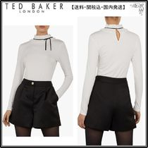 【関税込】TED BAKER トップス☆Ceeily Ruffle Neck Fitted Top