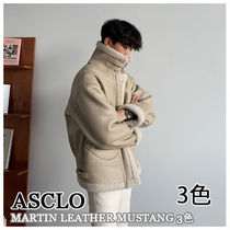 ASCLO★韓国の人気★OVERFIT  MARTIN LEATHER MUSTANG 3色