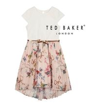TED BAKER(テッドベーカー) キッズワンピース・オールインワン TED BAKER ドレス キッズ  フローラル ピンク 4-12歳 国内発送