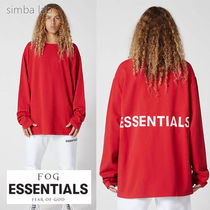 FOG Essentials Boxy Graphic ロンT / レッド FEAR OF GOD