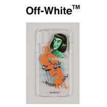 OFF WHITE GREEN MAN iPhone X/XS ケース TRANSPARENT MULTI