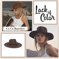 lack of color(ラックオブカラー) ハット 国内発送 ★.. lack of color  CoCo Rancher - Dark Brown ..★