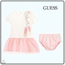 Guess(ゲス) ベビーワンピース GUESS☆BABY GIRL dresset ivory×pink 6-24M