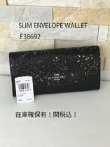 即発 COACH★SLIM ENVELOPE WALLET 長財布 F38692☆グリッター