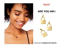 ARE YOU AM I(アーユーアムアイ) ネックレス・ペンダント SALE!!ARE YOU AM I ★イニシャル南京錠ネックレス