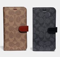 Coach ◆ 39597 iPhone X/XS folio Signature Leather