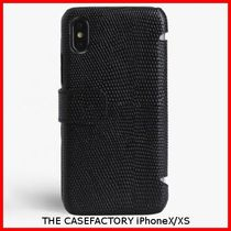 関税送料込☆THE CASEFACTORY☆IPHONE X/XS CARDCASE LIZARD