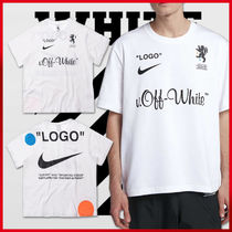 国内正規 NIKE LAB OFF-WHITE FOOTBALL TEE AJ3374-100 Tシャツ