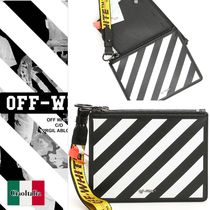 OFF WHITE Double Diag Pouch