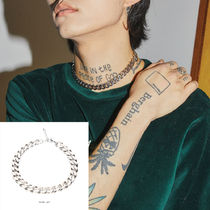 【OPENTHEDOOR】silver chain choker necklace