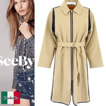 See by Chloe Bicolor Cotton Trench Coat