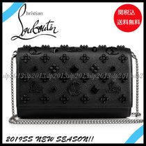 19New■Christian Louboutin■Paloma Clutch Black☆関税込