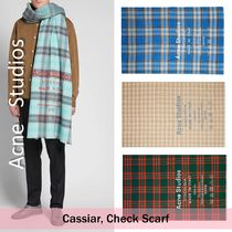 Acne Studios :: Cassiar Checked Logo :: チェックロゴマフラー