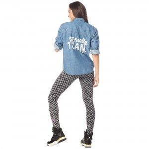 追跡有〓Zumba Game Changer Button Up