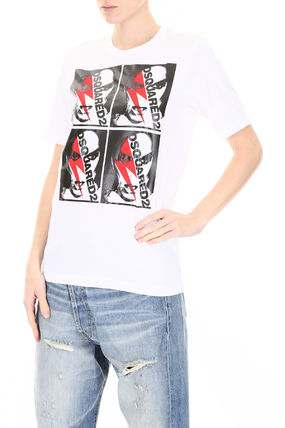 D SQUARED2 Tシャツ・カットソー ディースクエアード Printed T-Shirt(4)