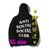 *即時発送* Anti Social Social Club Logo Hoodie Black (XL)