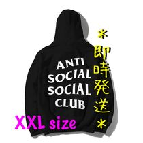 *即時発送* Anti Social Social Club Logo Hoodie Black (XXL)