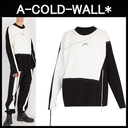 A-COLD-WALL☆カラーブロック ロゴウールセーター