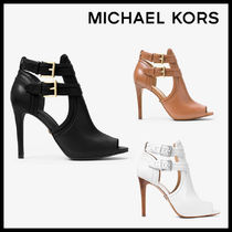 MICHAEL KORS Blaze Leather Open-Toe Bootie レザー 送料関税込