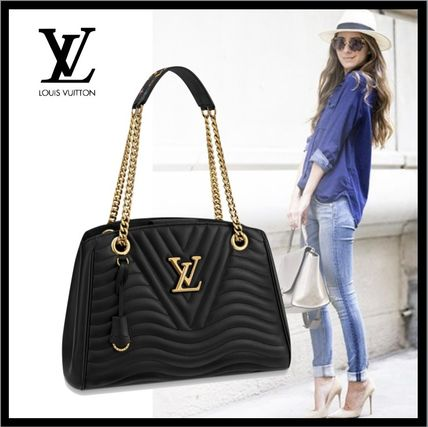 Louis Vuitton トートバッグ 19SS♪国内直営♪LOUIS VUITTON ニューウェーブ チェーントート