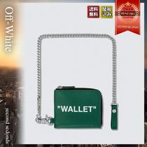 Off-White Quote Chain Wallet レザー コインパース チェーン
