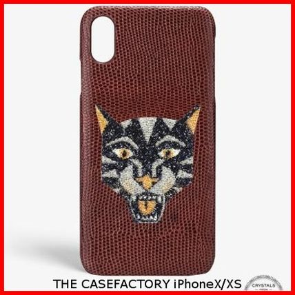 THE CASE FACTORY スマホケース・テックアクセサリー 関税送料込☆THE CASEFACTORY☆IPHONE X/XS SWAROVSKI TIGER